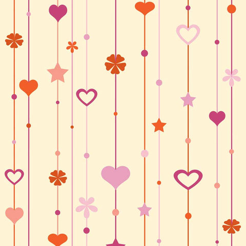 Fox Rolled Vinyl Heart Shape Valentine Day Photo Backdrop