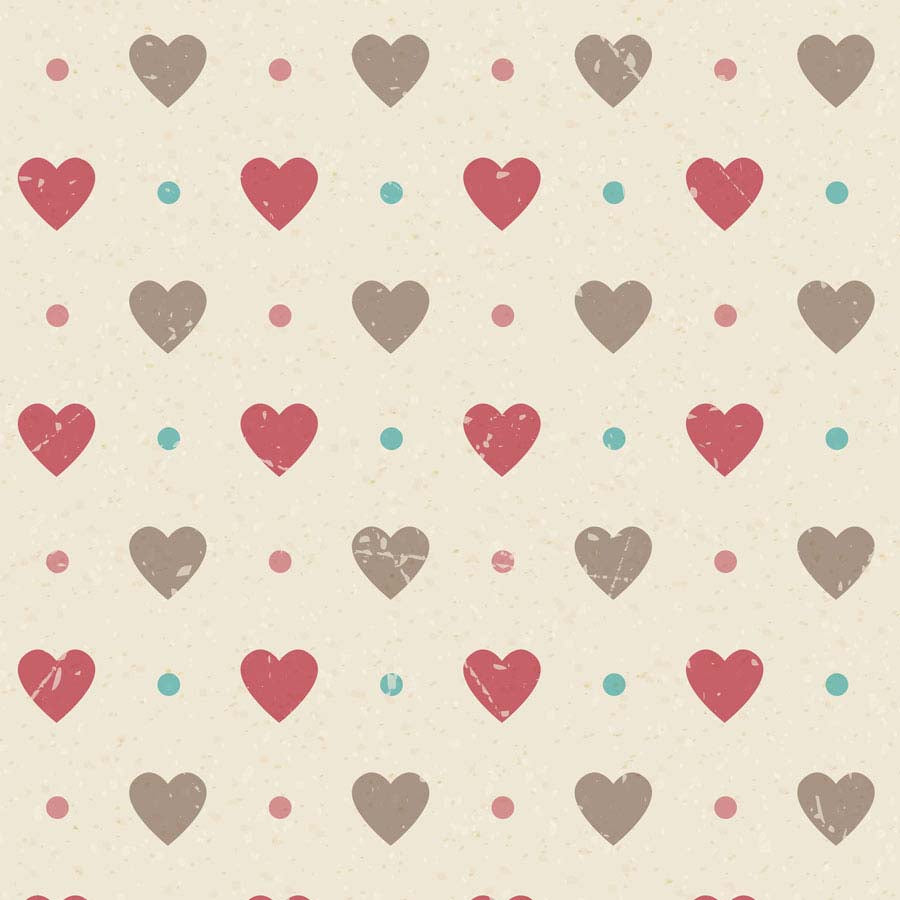 Fox Rolled Valentine Day Printed Heart Vinyl Backdrop for Photography-Foxbackdrop