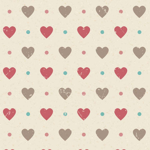 Fox Rolled Valentine Day Printed Heart Vinyl Backdrop for Photography