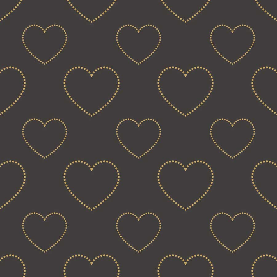 Fox Rolled Vinyl Dark Gray Gold Heart Valentine Backdrop