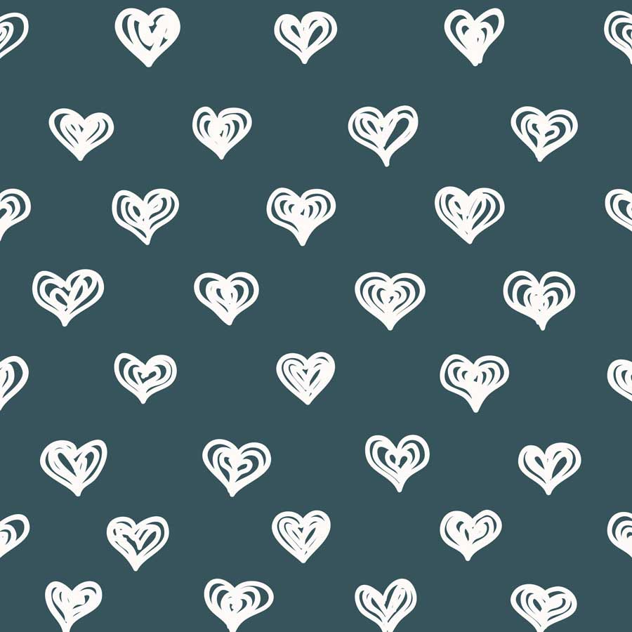 Fox Rolled Vinyl White Heart Valentine Day Backdrop-Foxbackdrop