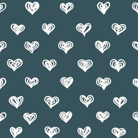 Fox Rolled Vinyl White Heart Valentine Day Backdrop