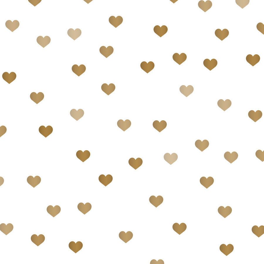 Fox Rolled Vinyl Brown Heart Valentine White Photo Backdrop-Foxbackdrop