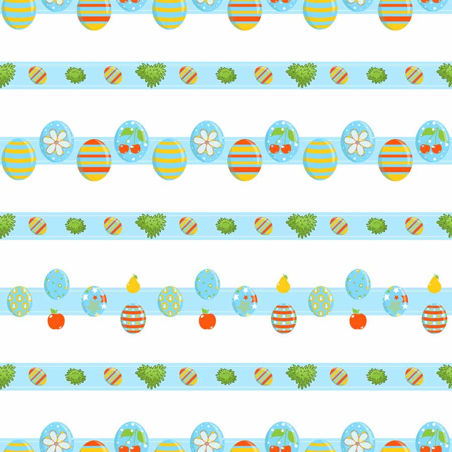 Fox Rolled Vinyl Colorful Easter Egg Blue Backdrop for Photography-Foxbackdrop