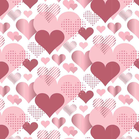 Fox Rolled Vinyl Hearts Overlay Valentine Day Photo Backdrop