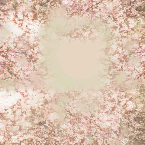Fox Rolled Vinyl Small Flowers Spring Photo Backdrop