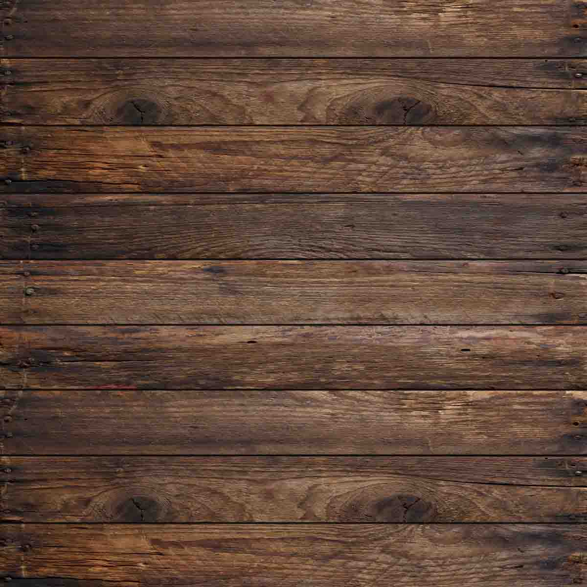 Fox Rolled Brown Wood Vinyl Photography Backdrop