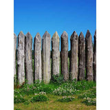 Fox Rolled Spring Fence Sky Vinyl Backdrops for Photography-Foxbackdrop