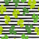 Fox Rolled St. Patrick's Day Black White Stripes Vinyl Backdrop-Foxbackdrop