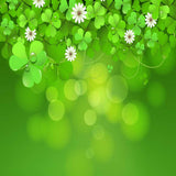Fox Rolled St. Patrick's Day Green Leaves Vinyl Backdrop-Foxbackdrop