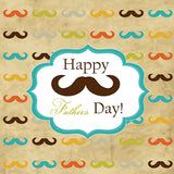 Fox Rolled Vinyl Beard Happy Father's Day Photography Backdrop-Foxbackdrop