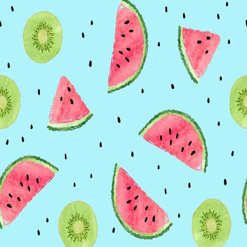 Fox Rolled Vinyl Summer Watermelon Children Backdrop-Foxbackdrop
