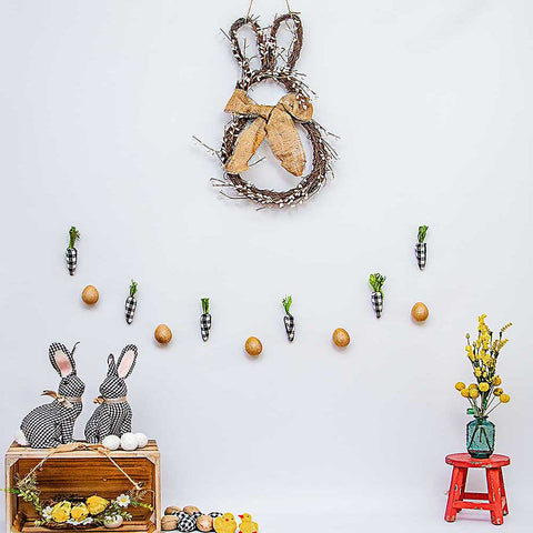 Fox Rolled Vinyl  Easter Photography Backdrop Designed by Nosheen Iqbal