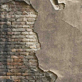 Load image into Gallery viewer, Fox Rolled Retro Brick Cement Wall Vinyl Photography Backdrop-Foxbackdrop