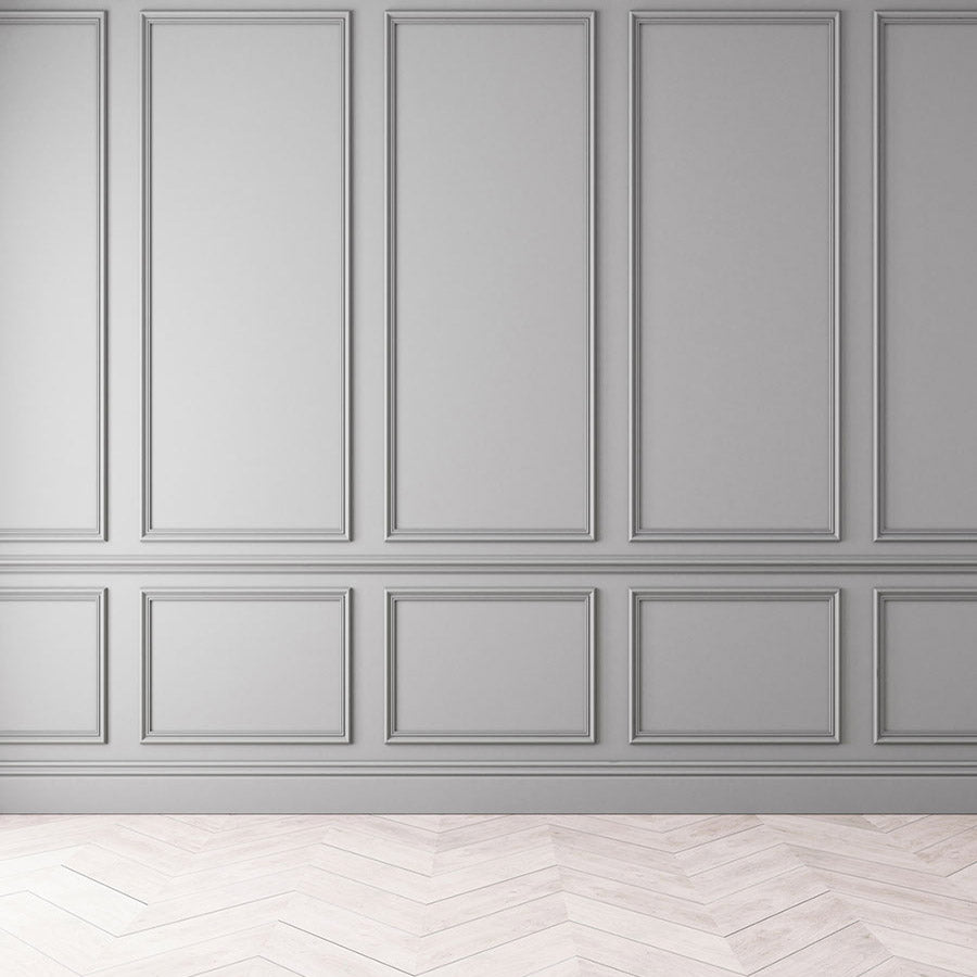 Fox Rolled Gray Door Wood floor Vinyl Backdrop-Foxbackdrop