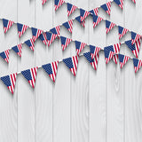 Fox American Flag Banner Wood Vinyl 4 of July Backdrop-Foxbackdrop