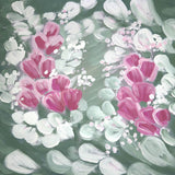 Fox Rolled Dreamy White Pink Flowers Vinyl Pregnant Backdrop-Foxbackdrop