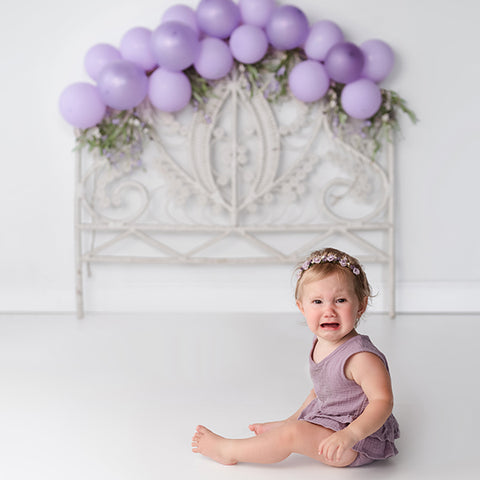 Fox Children Backdrop Purple Balloons Design by Kali