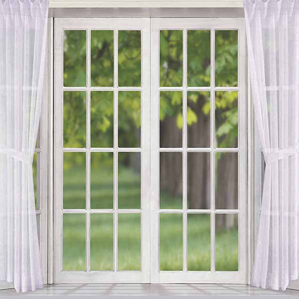 Fox Rolled White Curtain Window Vinyl Backdrop-Foxbackdrop