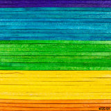 Load image into Gallery viewer, Fox Rainbow Color Wood Vinyl Backdrop-Foxbackdrop