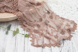 Fox 40x185cm Coffee Lace Newborn Swaddle Wrap Cloth-Foxbackdrop