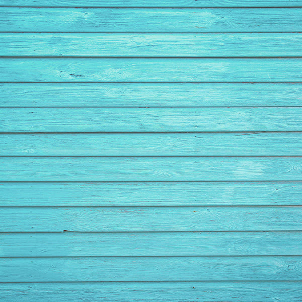 Fox Turquoise Wood Wall Vinyl Photography Backdrop-Foxbackdrop