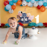 Fox Rolled Children Cakesmash Birthday Vinyl Backdrops Design by Kali