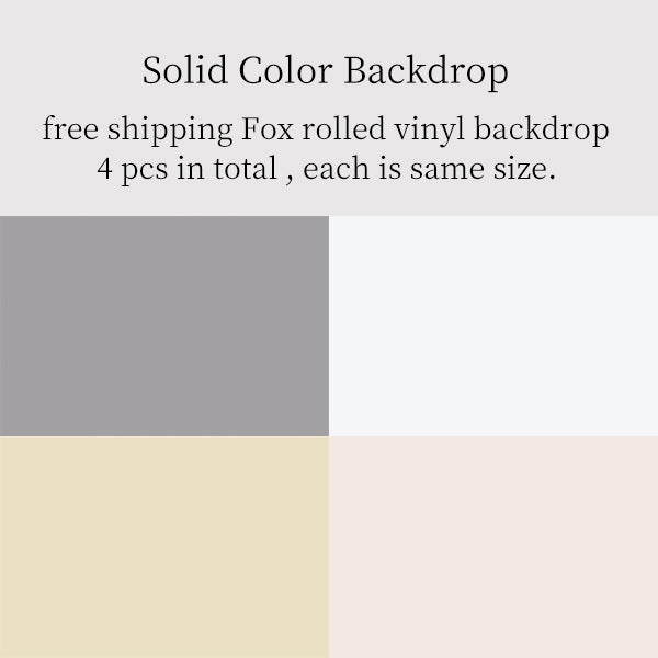 Fox Rolled 4 Pcs Solid Color Combination Vinyl Photography Backdrop-Foxbackdrop