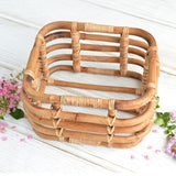 Load image into Gallery viewer, Fox Bamboo Square Basket for Newborn Photo Props
