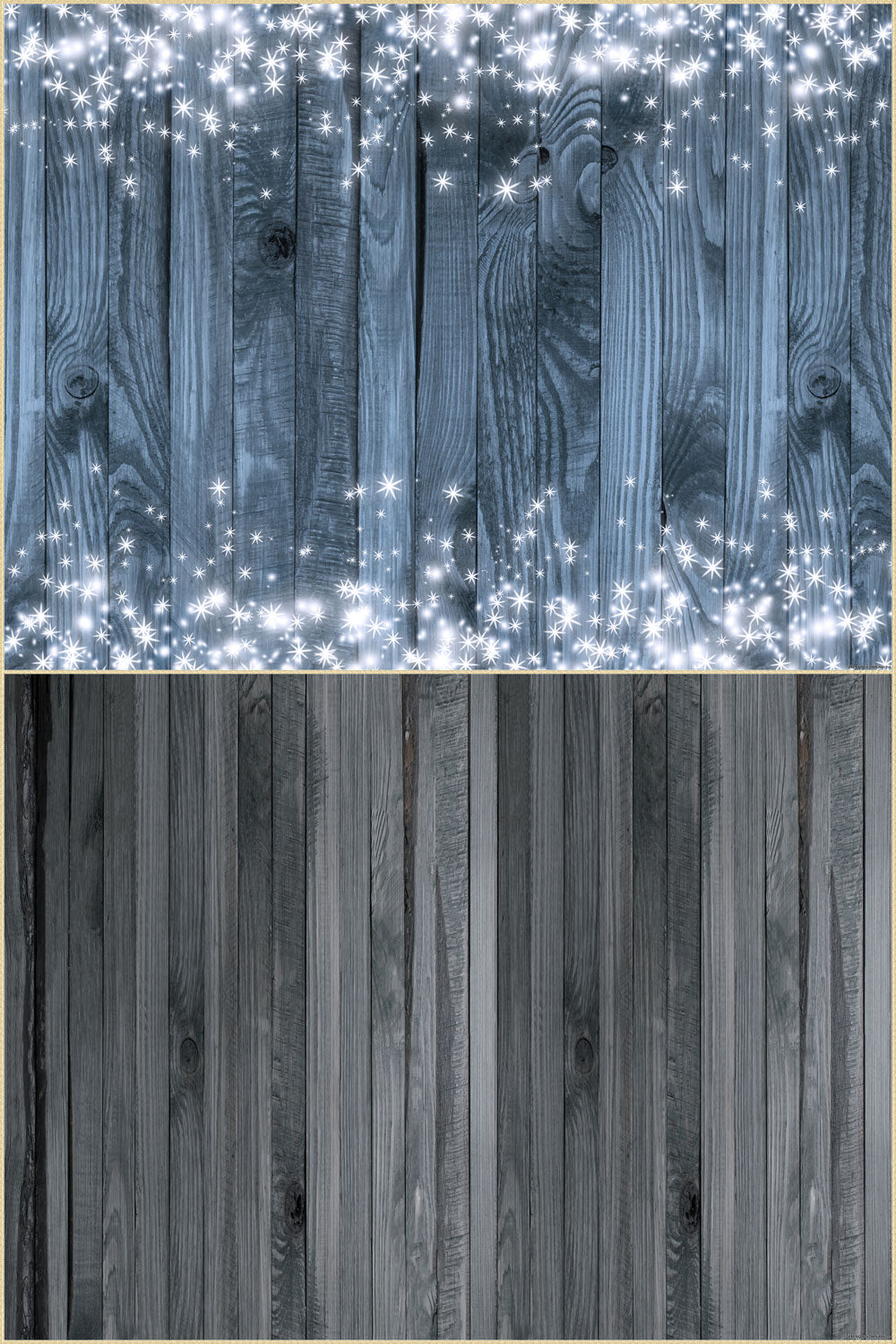 Fox 6.5x10ft  Vinyl Shiny Wood Wall with Wood Floor Drops Mat Photo Backdrop Combos