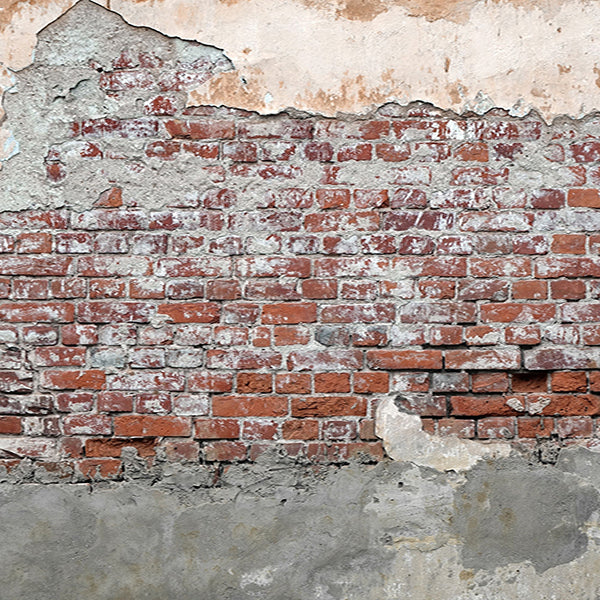 Fox Retro Faded Brick Wall Vinyl Backdrop-Foxbackdrop