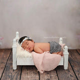 Load image into Gallery viewer, Fox Wooden Bed for Newborn Baby Photo Prop