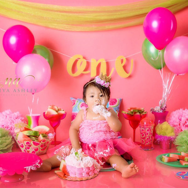 Fox Pink Balloons Children Girls Vinyl Backdrop Design By Neiva