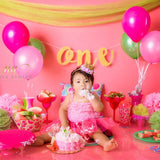Fox Pink Balloons Children Birthday Vinyl Backdrop Design By Neiva-Foxbackdrop