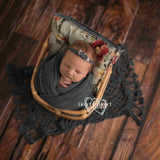 Fox Rolled Dark Brown Vintage Wood Newborn Vinyl Backdrop-Foxbackdrop