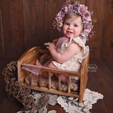 Load image into Gallery viewer, Fox Retro Wood Crib Newborn Baby Photo Studio Props