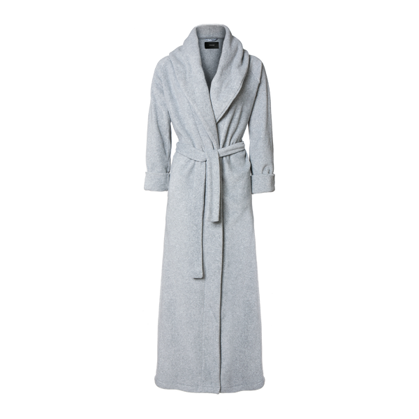 Karmameju Fleece Bathrobe, MOUNT EVEREST, Light Grey