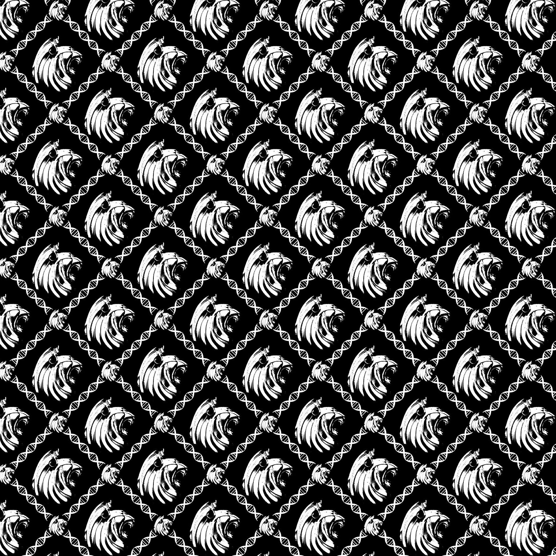 Yasimba lion pattern black and white