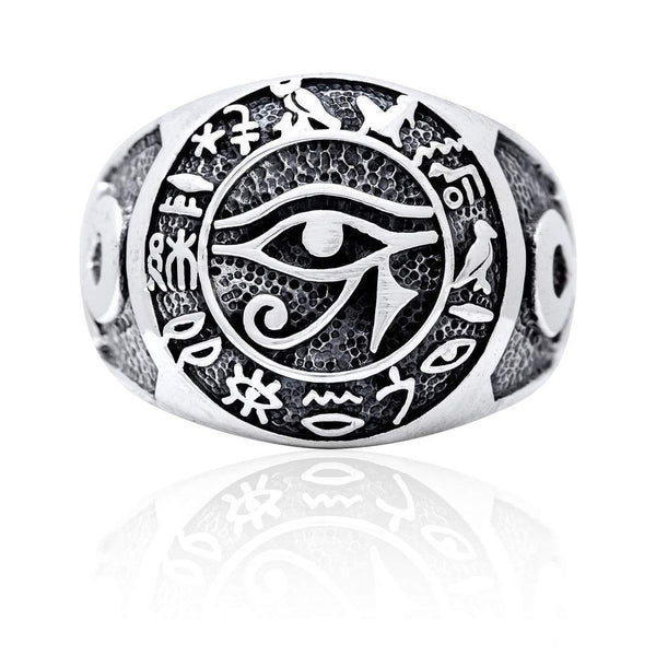 Eye of Horus Hieroglyphics Ring 3