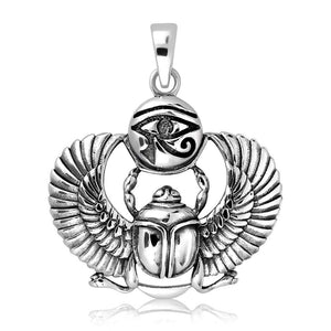 Eye of Horus Scarab Necklace