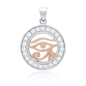 Rose Gold Eye of Horus Necklace