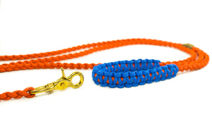 Braided Paracord 550 Leash - Solar Orange