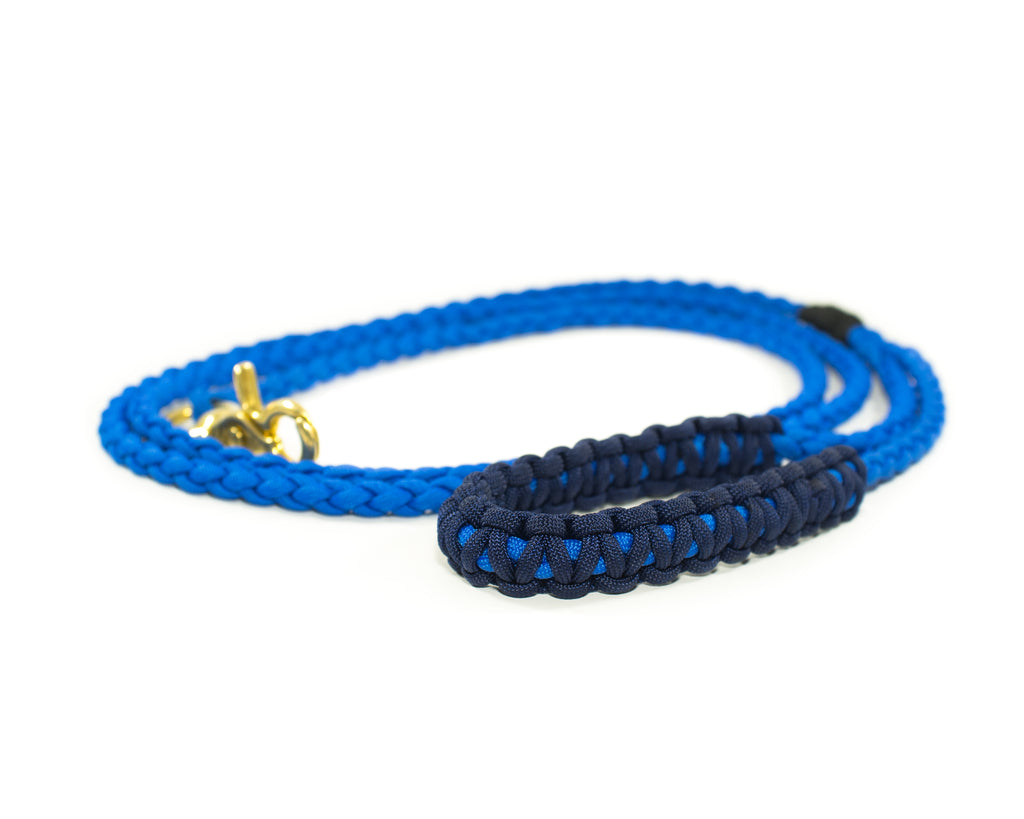 Braided Paracord 550 Leash - Royal Blue