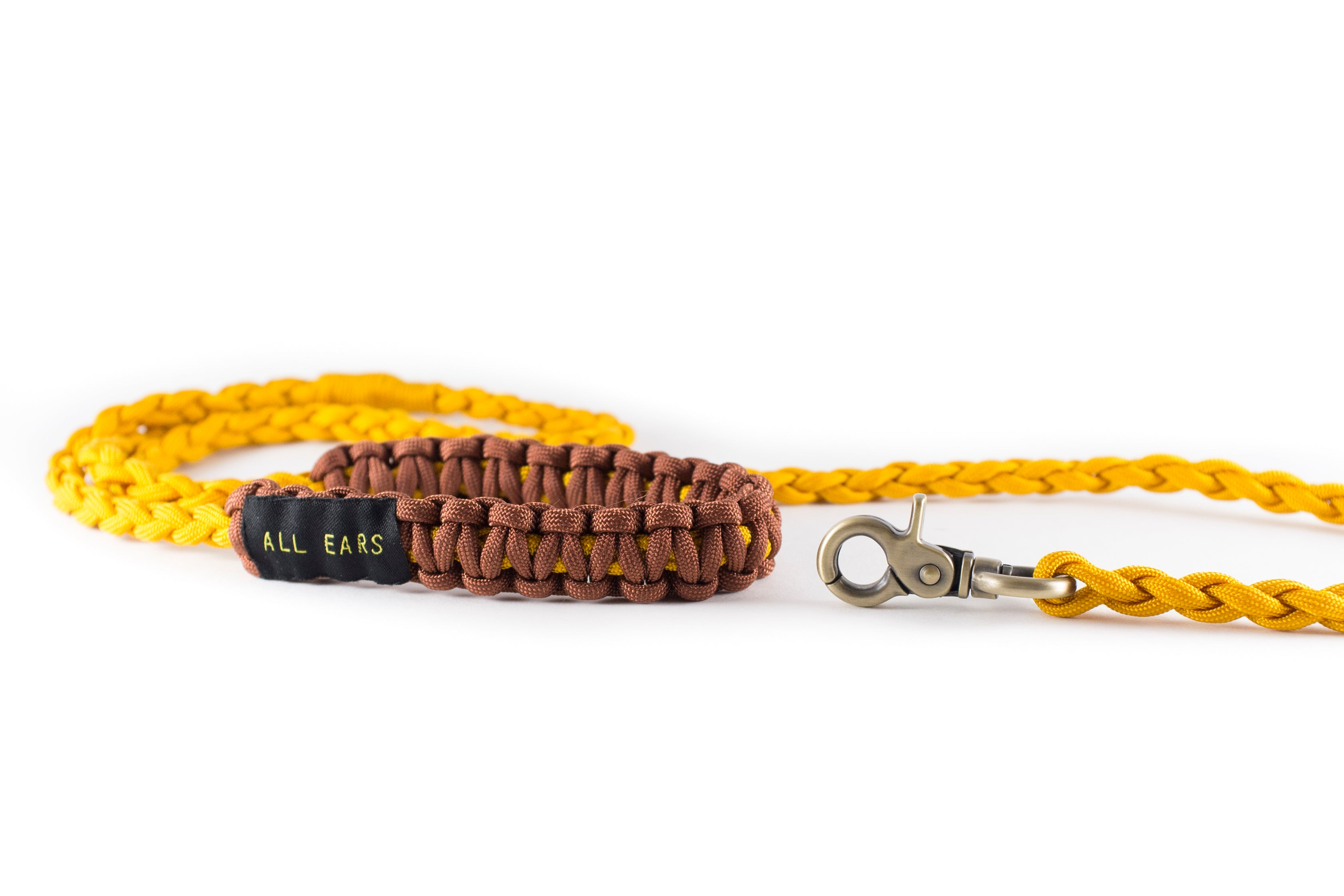 Braided Paracord 550 Leash - Golden Rod