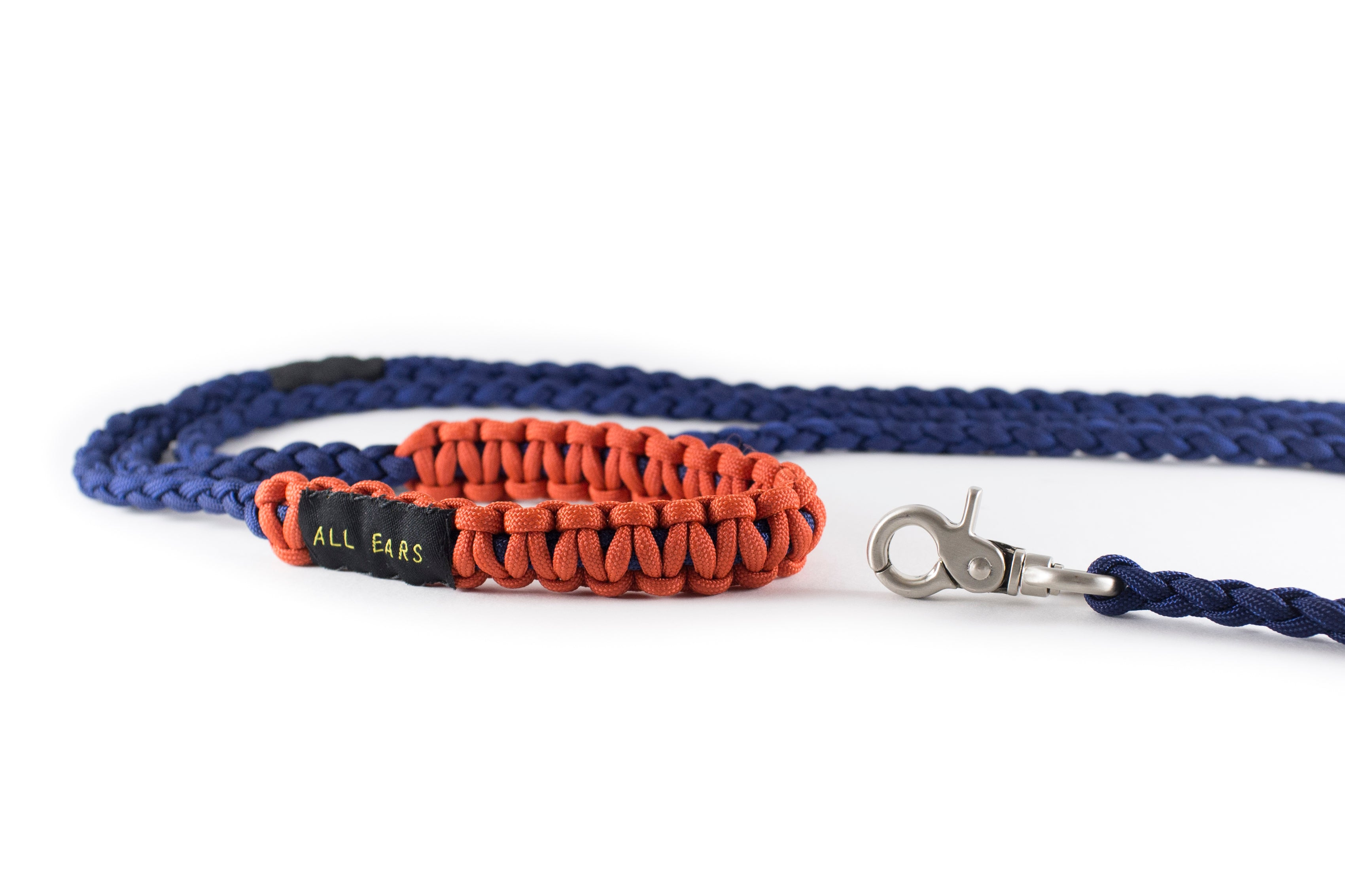 Braided Paracord 550 Leash - Midnight Blue