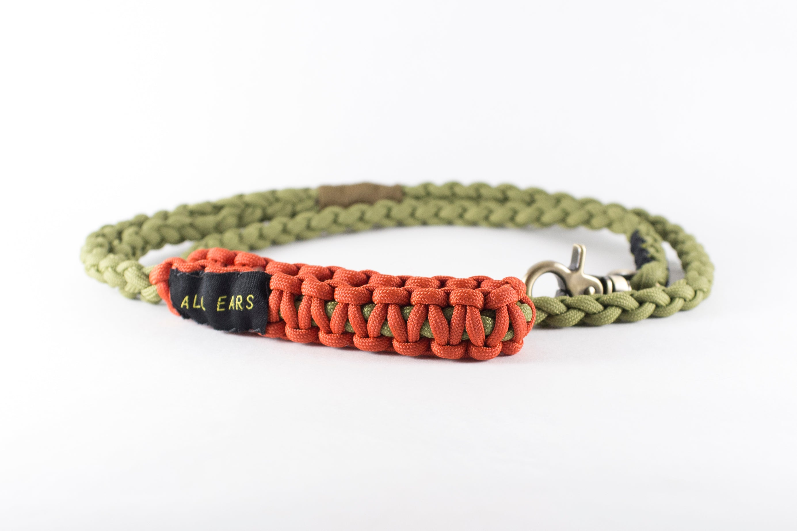 Braided Paracord 550 Leash - Moss Green
