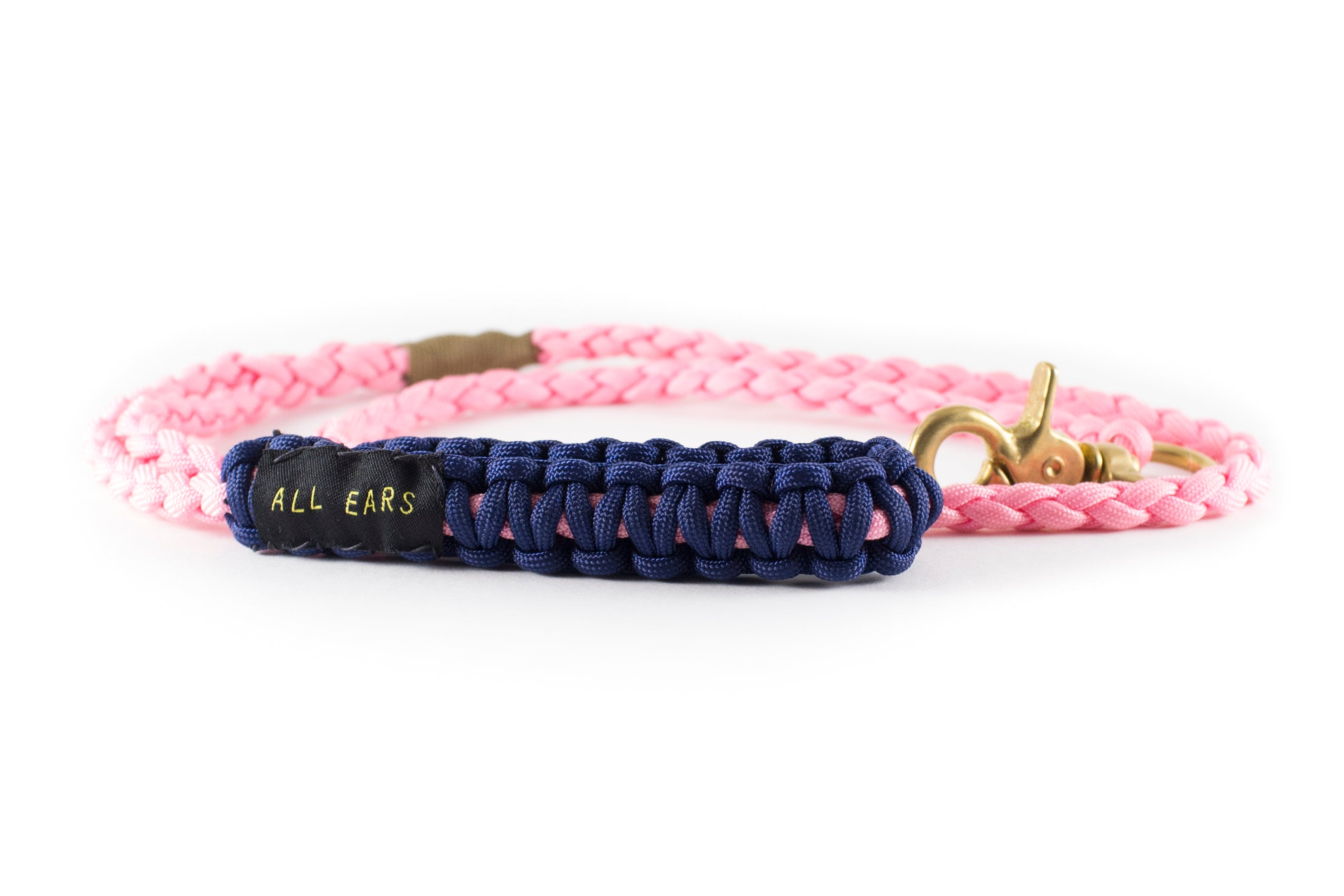 Braided Paracord 550 Leash - Rose Pink