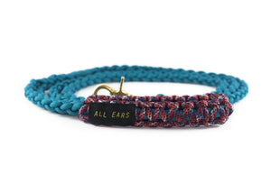 Braided Paracord 550 Leash - Teal