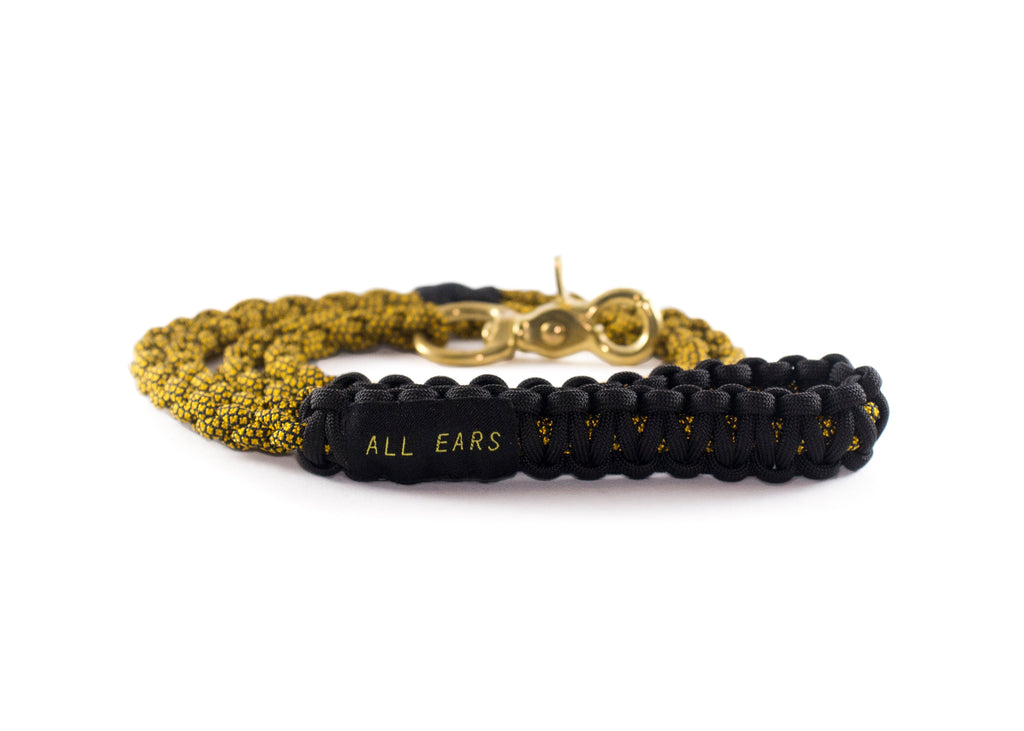 Braided Paracord 550 Leash - Golden Rod Diamonds