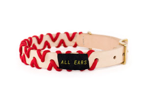 Zig Zag Collar - Imperial Red